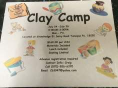 7-24 to 28-2017, Clay Camp, at Stonehedge Gardens, South Tamaqua