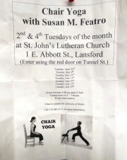 7-25-2017, Chair Yoga, with Susan Featro, St John's Lutheran Church, Lansford