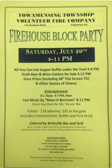 7-29-2017, Firehouse Block Party, Towamensing Fire Company, Palmerton