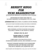 7-30-2017, Benefit Bingo for Vicki Brassington, at West End Fire Company, Mahanoy City