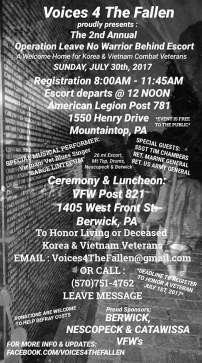 7-30-2017, Voices 4 The Fallen, American Legion Post 781, Mountaintop