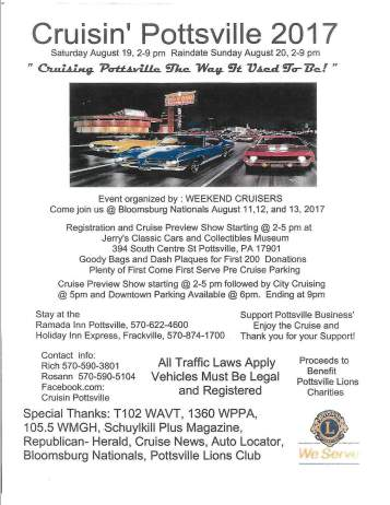 8-11, 12, 13-2017, Cruising Pottsville, Jerry's Classic Cars and Collectibles Museum, Pottsville