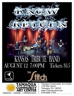 8-12-2017, Know Return, Kansas Tribute Band, at Tamaqua Community Arts Center, Tamaqua