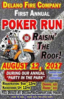 8-12-2017, Poker Run, Delano Fire Company, Delano