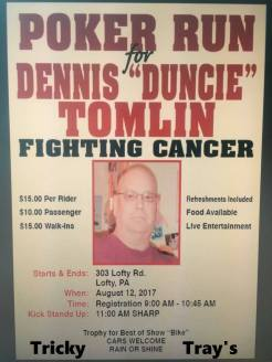 8-12-2017, Poker Run for Dennis Duncie Tomlin, Lofty