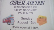 8-13-2017, Chinese Auction, at Citizens Fire Company, Palo Alto