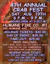 8-19-2017, Crab Fest, at Humane Fire Company, Pottsville