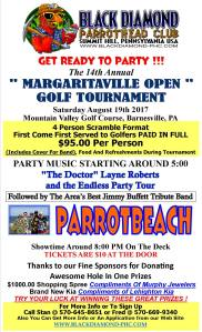8-19-2017, Margaritaville Open Golf Tournament, via Black Diamond Parrothead Club, at Mountain Valley Golf Course, Barnesville