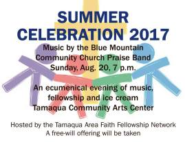 8-20-2017, Summer Celebration, Music, Ice Cream, at Tamaqua Community Arts Center, Tamaqua
