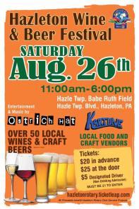 8-26-2017, Hazleton Wine & Beer Festival, Hazle Twp Babe Ruth Field, Hazleton