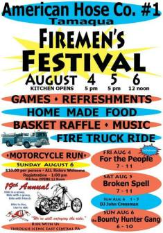 8-4, 5, 6-2017, Firemen's Festival, Block Party, at American Hose Company, Tamaqua