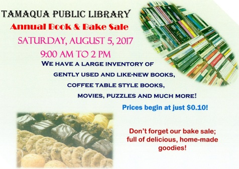 8-5-2017, Book Sale, Bake Sale, at Tamaqua Public Library, Tamaqua