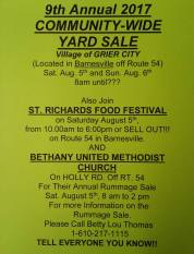 8-5, 6-2017, Grier City Community Yard Sale and Food Festival, Barnesville, Grier City