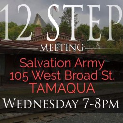Meet Every Wednesday, 12-Step Group, 7-8 PM, Salvation Army, Tamaqua