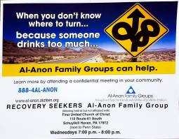 Meet Every Wednesday, Recovery Seekers, 7-8 PM, First Unite d Church of Christ, Schuylkill Haven