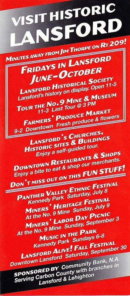 Visit Historic Lansford PA